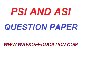 PSI AND ASI OLD PAPER
