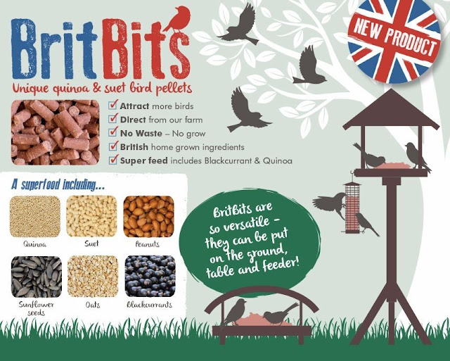 New superfood bird pellets for garden birds - BritBits