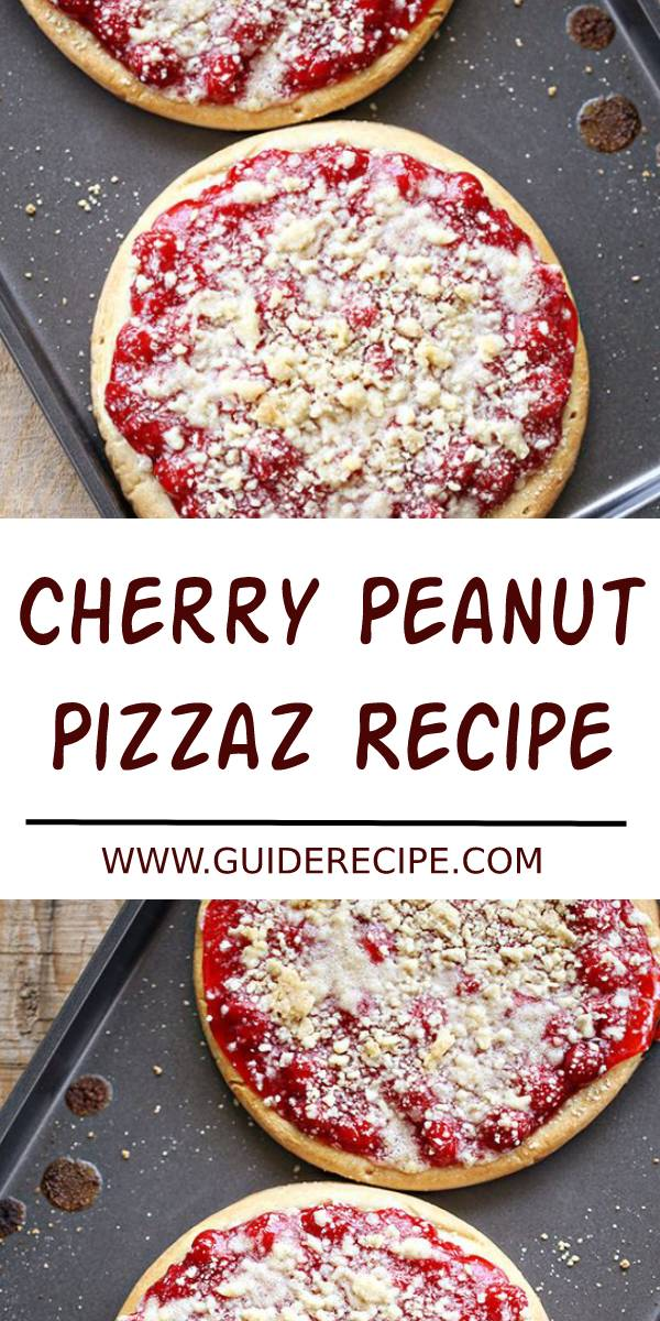 Cherry Peanut Pizza Recipe #cherry #peanut #pizza #pizzarecipe #snacks #appetizers