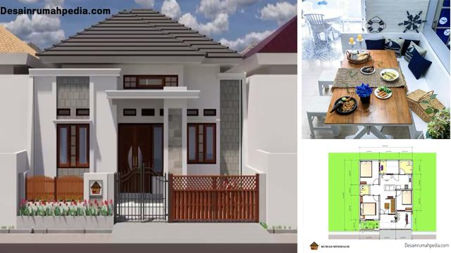 Desain Dan Denah Rumah Minimalis Ukuran 8 X 10 Meter Dengan 3 Kamar Tidur Dan Ruang Makan Cantik Desainrumahpedia Com Inspirasi Desain Rumah Minimalis Modern