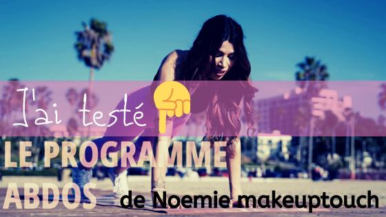 Le programme sportif TouchWorkOut de Noemie Makeuptouch