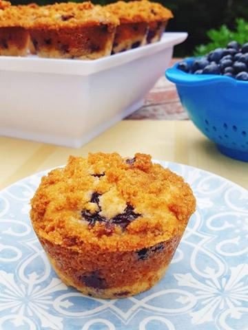 Lemon Streusel Blueberry Muffins