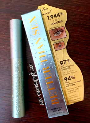 Review: Better Than Sex Mascara Waterproof - Too Faced