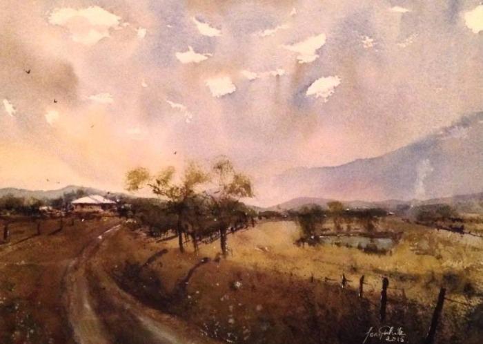 Акварельная живопись. Tony White