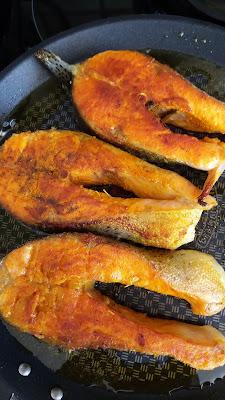 Darnes de truites saumonées grillées au curcuma;délicieux,simple à réaliser!