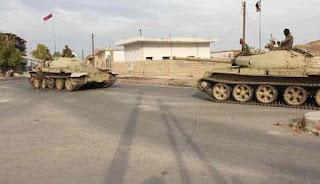 Konvoi Pasukan Syiah Suriah Dan Komunis Rusia Meluncur Ke Raqqa
