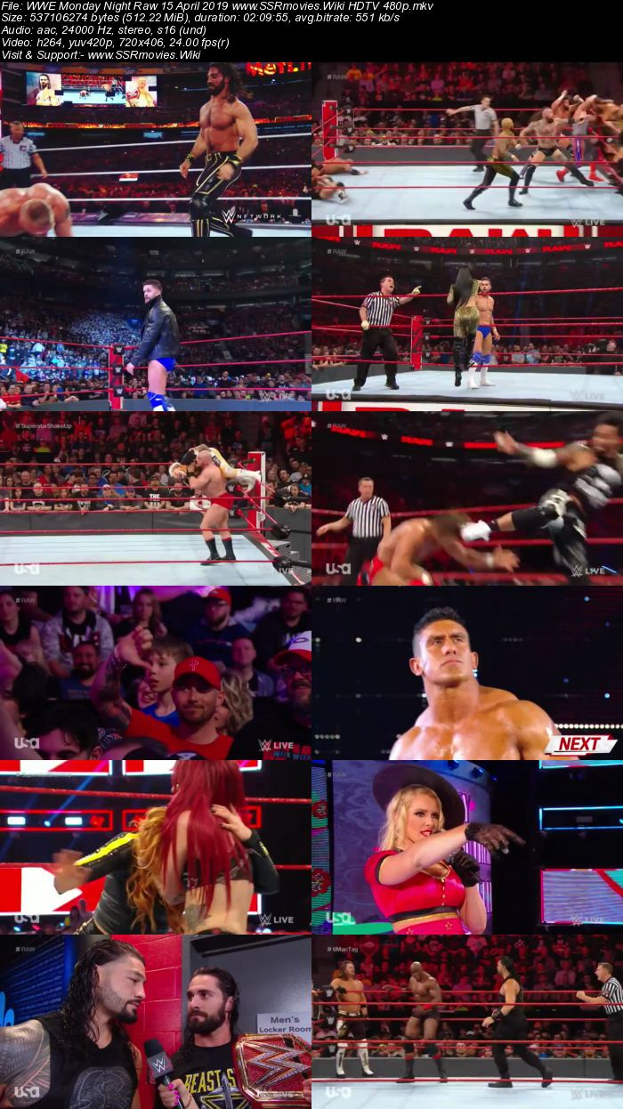 WWE Monday Night Raw 15 April 2019 Full Show Download