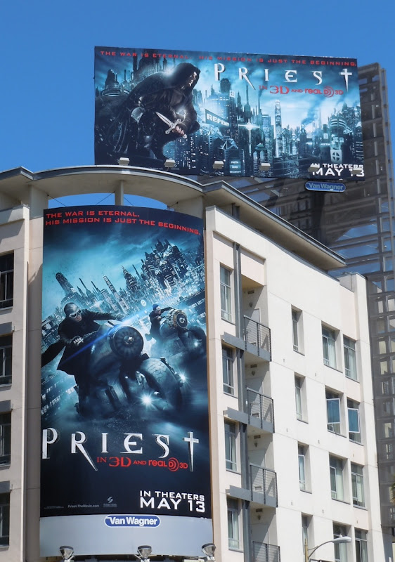 Priest movie billboards