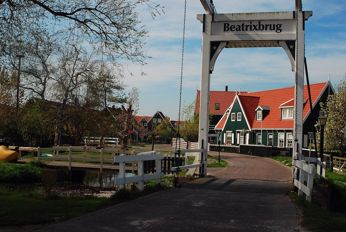 entrée du village de Marken