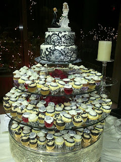 As The Cake Topper Clearly States This Is In It Till End A Small 2 Tier Red Velvet Wedding Bride Groom Also Had 4 Diffe Cupcake