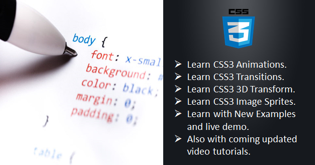 new css3 tutorials, css tutorials live examples, latest css tutorials