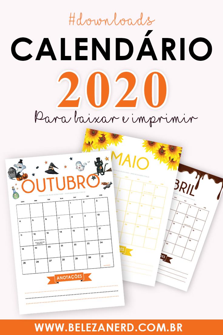 Calendário 2020 baixar