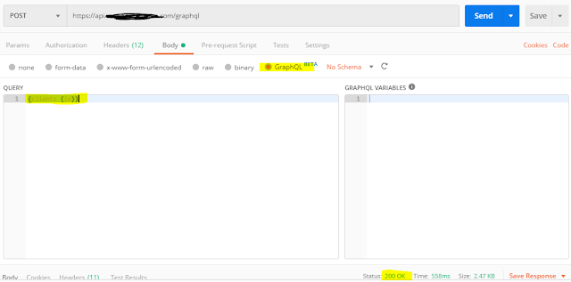 request using postman