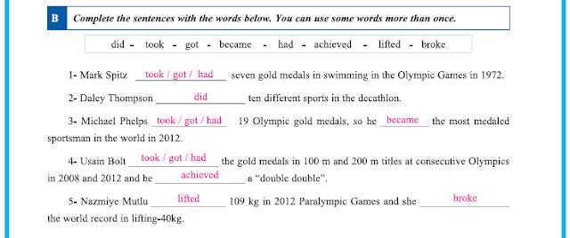 9. Sınıf Yıldırım Yayınları İngilizce A1.2 Çalışma Kitabı 35. Sayfa Cevapları Theme 4 Sports