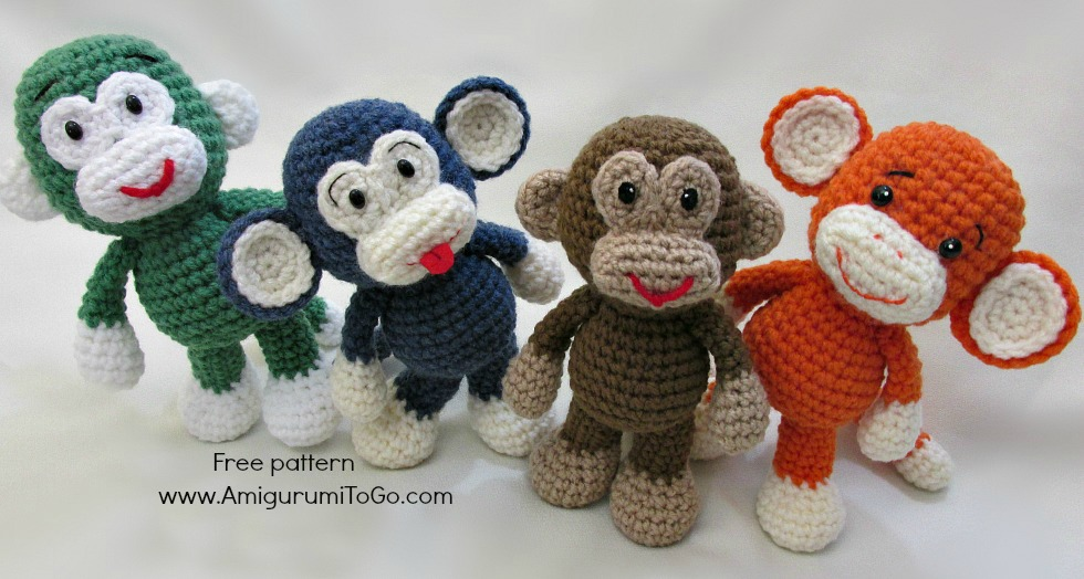 Amigurumi Monkey Patterns : Little bigfoot monkey revised pattern video tutorial amigurumi to go