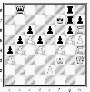 Posición de la partida de ajedrez Wegner - Lauvsnes (Gausdal, 1992)