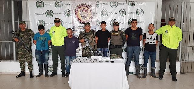 CAPTURADOS CINCO PRESUNTOS INTEGRANTES DE LOS PACHENCAS EN PUEBLO BELLO