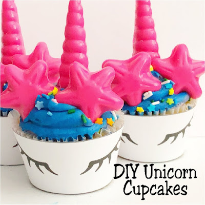 Easily take store bought cupcakes and turn them into beautiful unicorn cupcakes perfect for your Unicorn party.