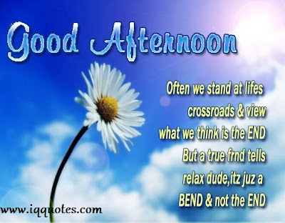 good afternoon often we stand at lifes crossroads