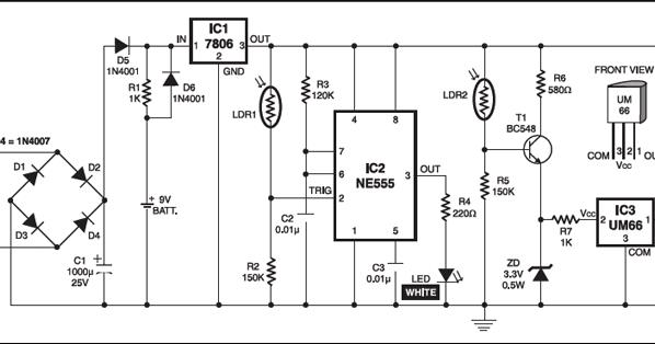 9v battery backup circuit