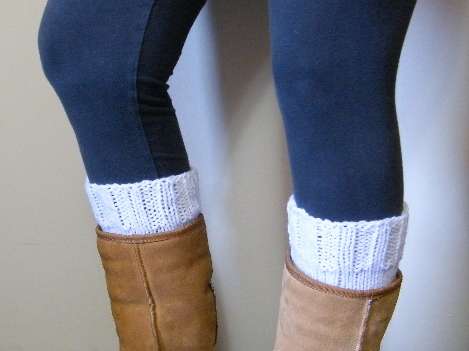 Lewis Knits Basic Boot Cuff Knitting Pattern