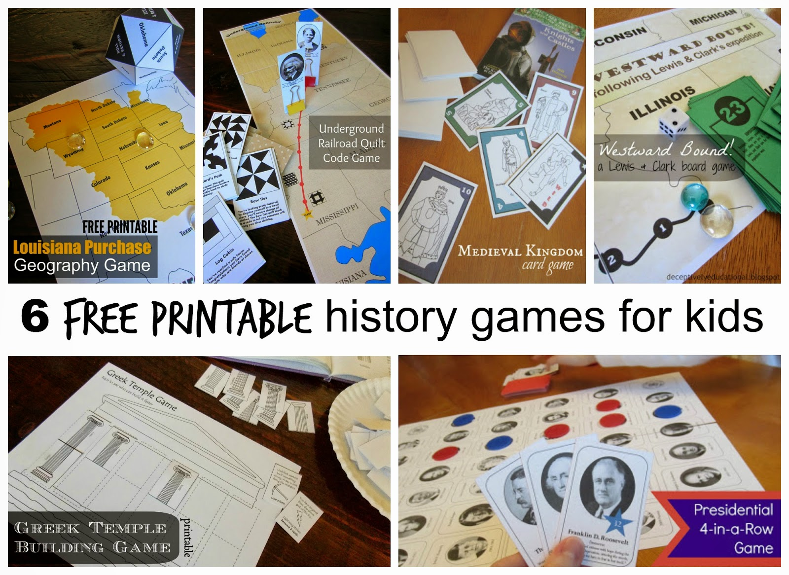 Relentlessly Fun Deceptively Educational 6 History Games