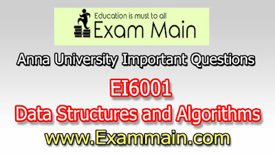 EI6001 Data Structures and Algorithms