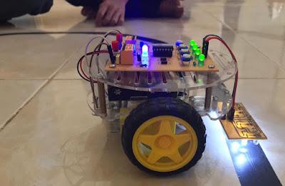 Tutorial robot line follower analog
