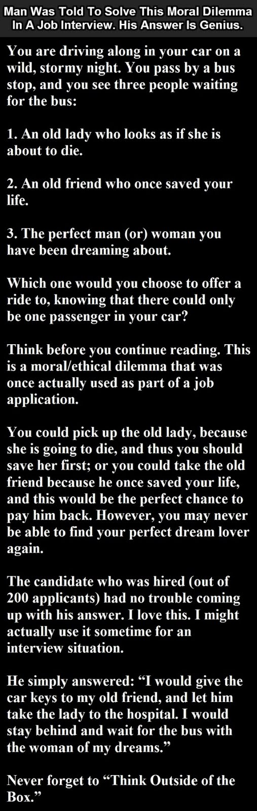 The Best Job Interview Answer Ever
