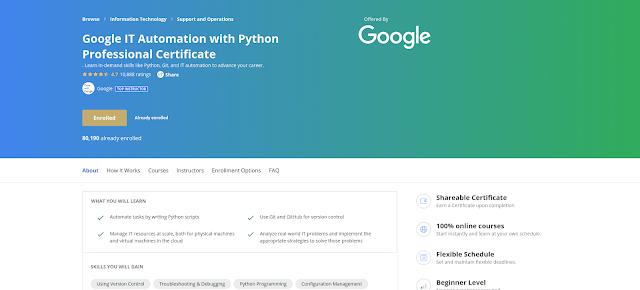 Reference - Chém gió về Google IT Automation with Python Professional Certificate có gì hấp dẫn