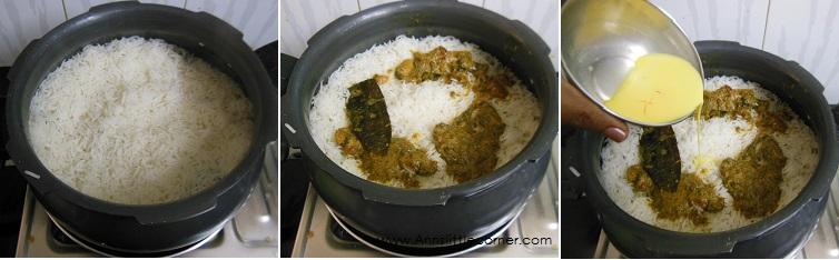 How to make Chicken Dum Biryani - Step 10