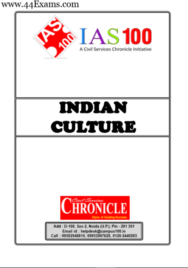 Indian-Culture-by-Chronicle-IAS-Academy-For-UPSC-Exam-PDF-Book