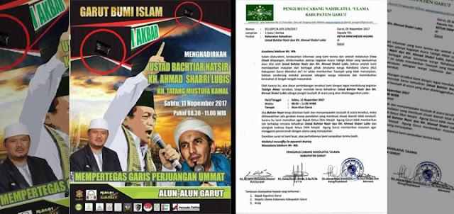 NU Garut Tolak Bachtiar Nasir GNPF dan Sobri Lubis FPI