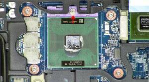 Aquí tenemos el ejemplo de un socket de laptop que no esta soldado a la placa