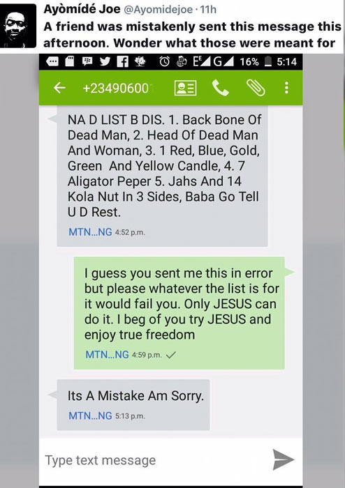 See list of requirements for money ritual a man accidentally got on his phone