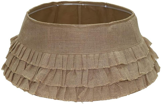 ruffled burlap Christmas tree collar