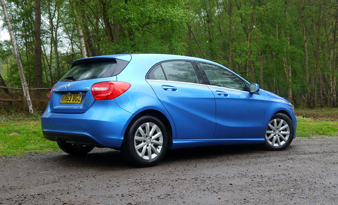 Mercedes A180 CDI Eco SE rear view