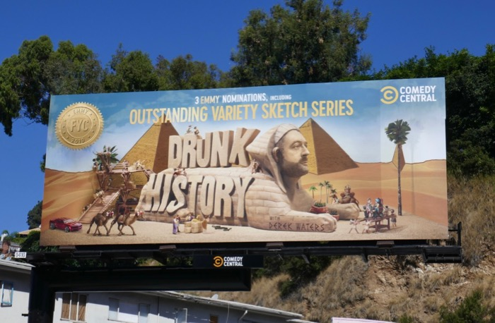 Drunk History 2019 Emmy nominee billboard