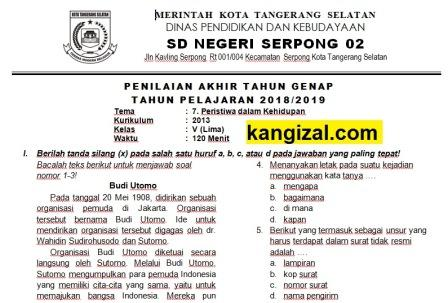Soal Uas Pat Ukk Kelas 5 Tema 7 Kurikulum 2013 Revisi 2019 2020 Kang Izal Blog