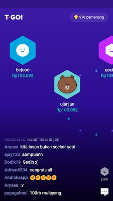 bukti pembayaran dari aplikasi T-GO Android
