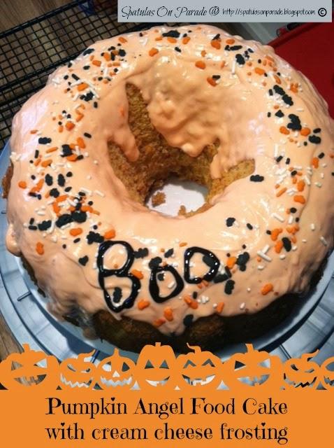 Spatulas On Parade Pumpkin Angel Food Cake With Cream