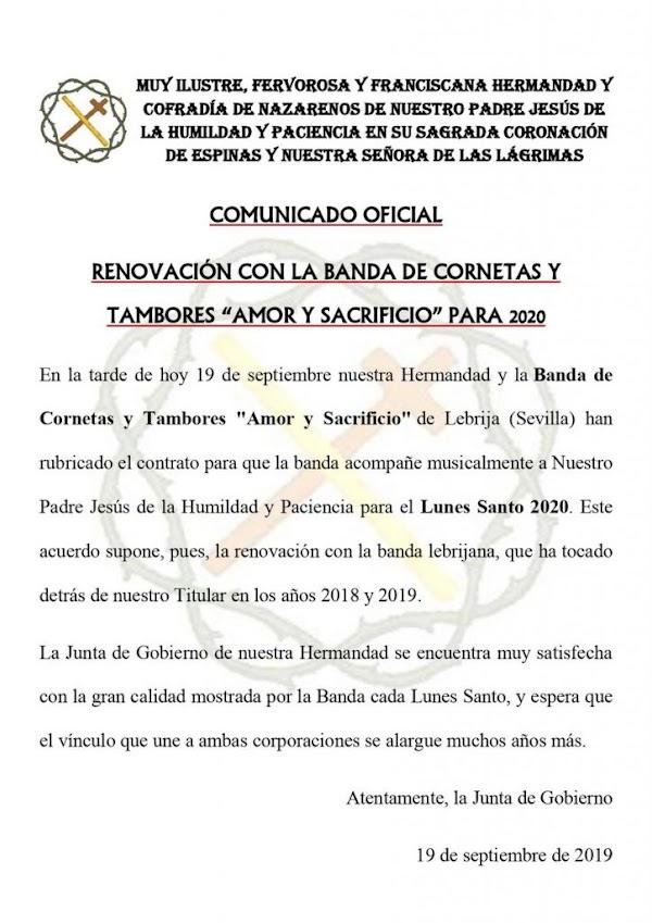 «La Cañita» Dde Sanlucar de Barrameda renueva a su Banda