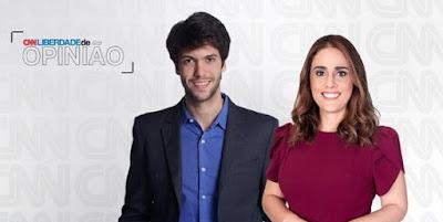 Caio Coppolla e Rita Lisauskas estreiam na próxima segunda-feira (18/01) _ Divulgação_CNN Brasil