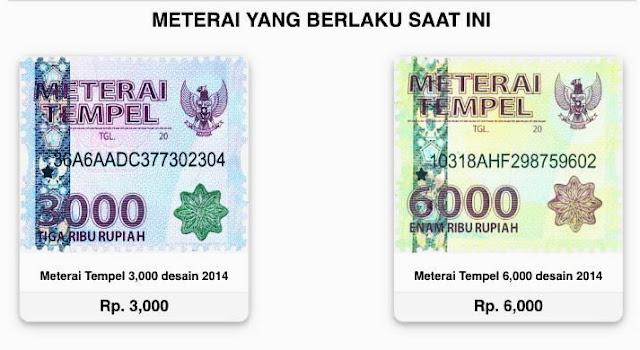 Meterai Rp 3.000 dan Rp 6.000 Bakal Dihapus, Gantinya Seharga Rp 10.000