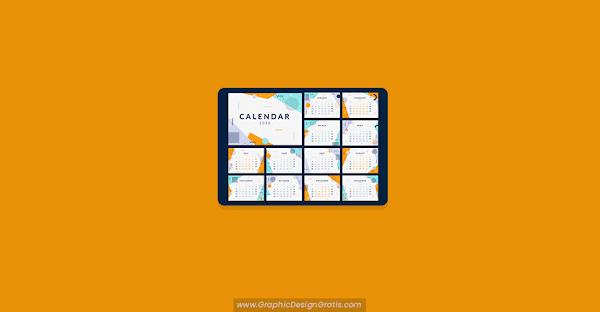 Plantilla de calendario 2020 memphis gratis