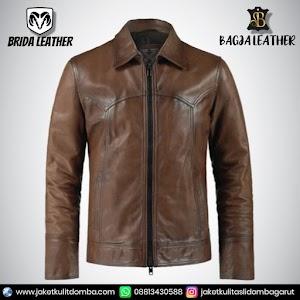 Jual Jaket Kulit Asli Garut Pria Domba Original Brida Leather B14   WA 08813430588