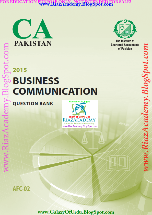 2015-CA ICAP-AFC 02 - Business Communication - Question Bank