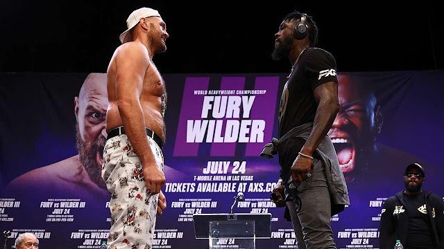 Fury Vs Wilder face off