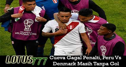 Cueva Gagal Penalti, Peru Vs Denmark Masih Tanpa Gol