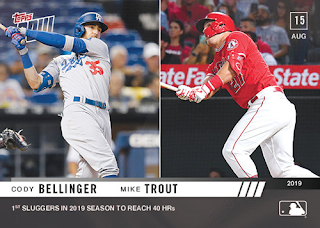 2019 Topps Now - #687 - Bellinger & Trout Hit their 40th